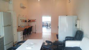 合同スタジオウェアハウスの控え室