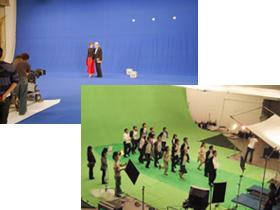 スタジオウェアハウスのクロマキー撮影